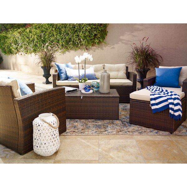 Varick Gallery Sanor 5 Piece Deep Seating Group With Cushion U0026 Reviews    Wayfair
