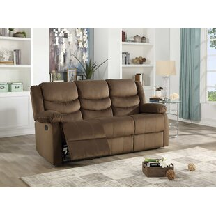 Act Suede Reclining Sofa by Winston Porter