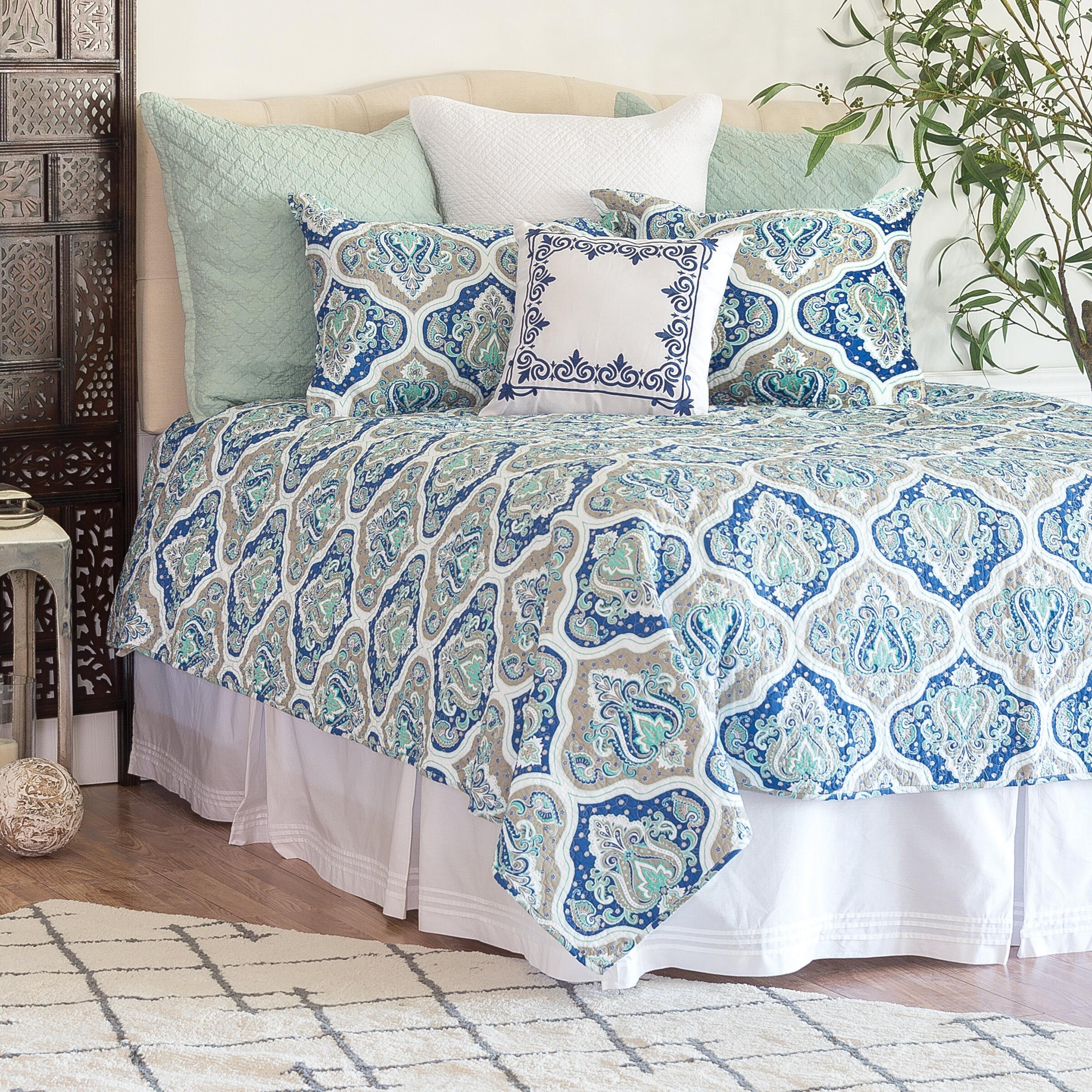 Charlton Home Milia Cotton 3 Piece Reversible Quilt Set Wayfair