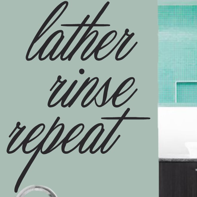 Sweetumswalldecals Lather Rinse Repeat Wall Decal Wayfair
