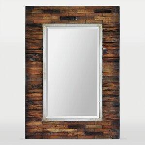 Bathroom Mirrors 30 X 48 rustic wall mirrors you'll love | wayfair