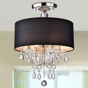 Averill 4-Light Semi-Flush Mount by House of Hampton