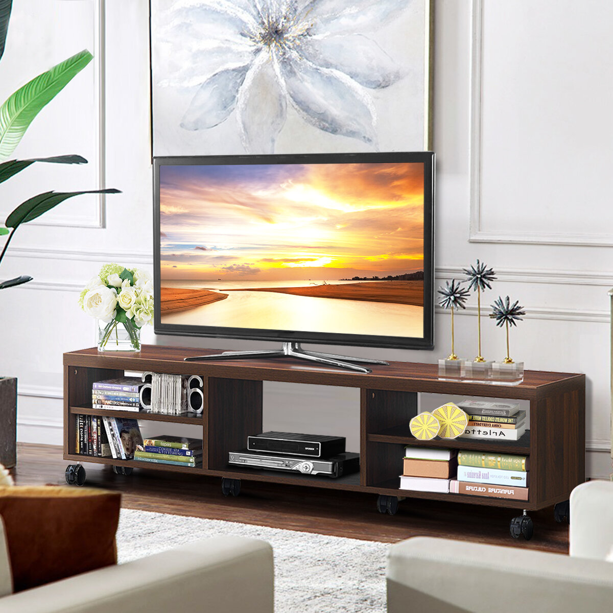 Ebern Designs Lakesha Tv Stand For Tvs Up To 65 Reviews Wayfair