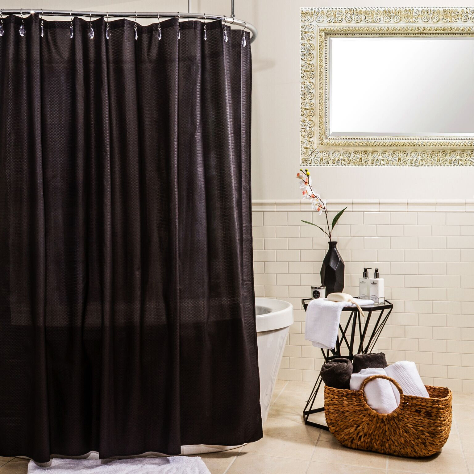 Water Proof Microfiber Shower Curtain