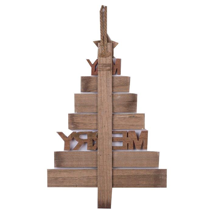Wood Christmas Tree Wall Decor