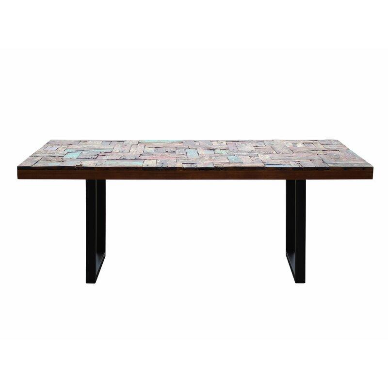 Loon Peak Barnes Rectangular Extendable Solid Wood Dining Table Wayfair