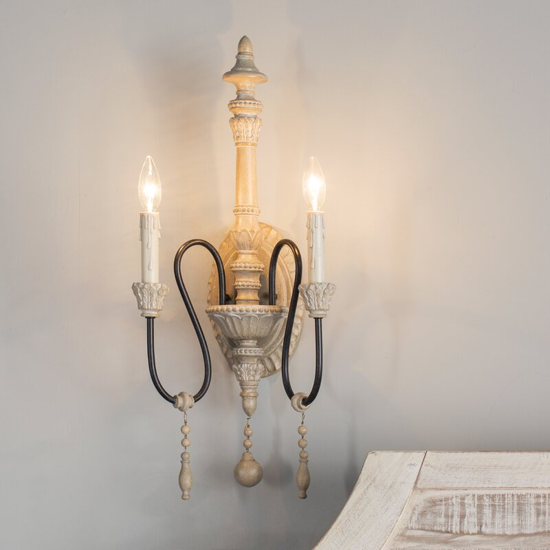 Corneau 2-Light Candle Wall Light - a beautiful French wall sconce for your country French home!