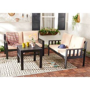 Cricklade Corner 3 Piece Conversation Set with Cushions