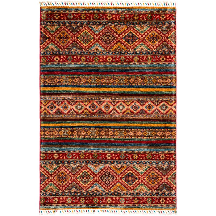 Wool Red Area Rug
