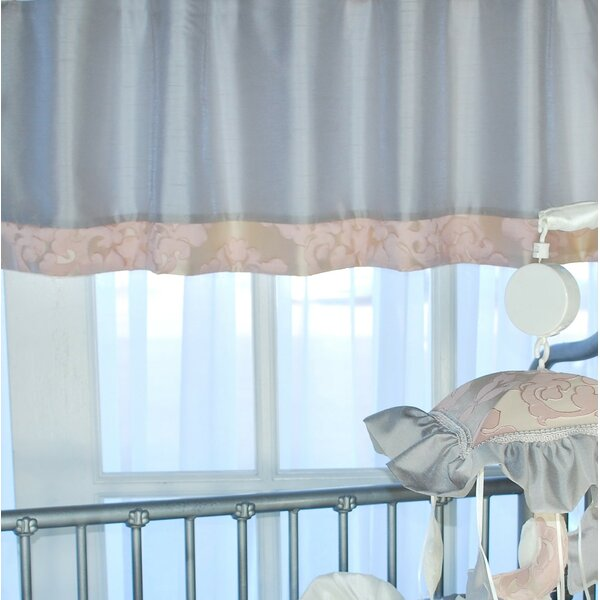 Pink White Stripe  Window Valance  52 x 15