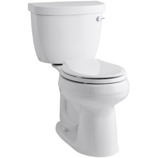 Kohler Cimarron Comfort Height Two-Piece Round-Front 1.28 GPF Toilet with Aquapiston Flush Technology, Right-Hand Trip Lever and Insuliner Tank Liner