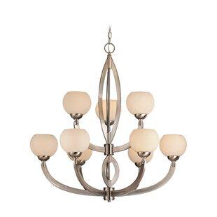 Savings Odyssey 9-Light Shaded Chandelier By Dolan Designs