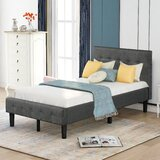 Amandie Twin Tufted Low Profile Sleigh Platform Bed by Red Barrel Studio®
