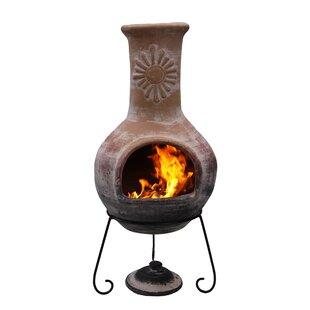 Deals Clay Wood Burning Chiminea