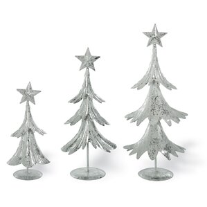 3 piece tiered metal tree set - Metal Christmas Trees