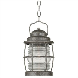 Bargain Ambrosia 1-Light Outdoor Hanging Lantern By Three Posts