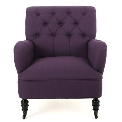 Argyle Armchair Upholstery Color: Dark Purple by Darby Home Co