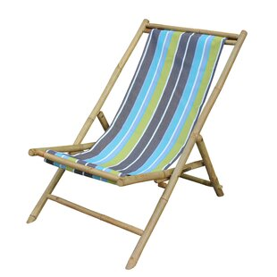 Bayou Breeze Atalya Folding Bamboo Relax Sling Beach Chair
