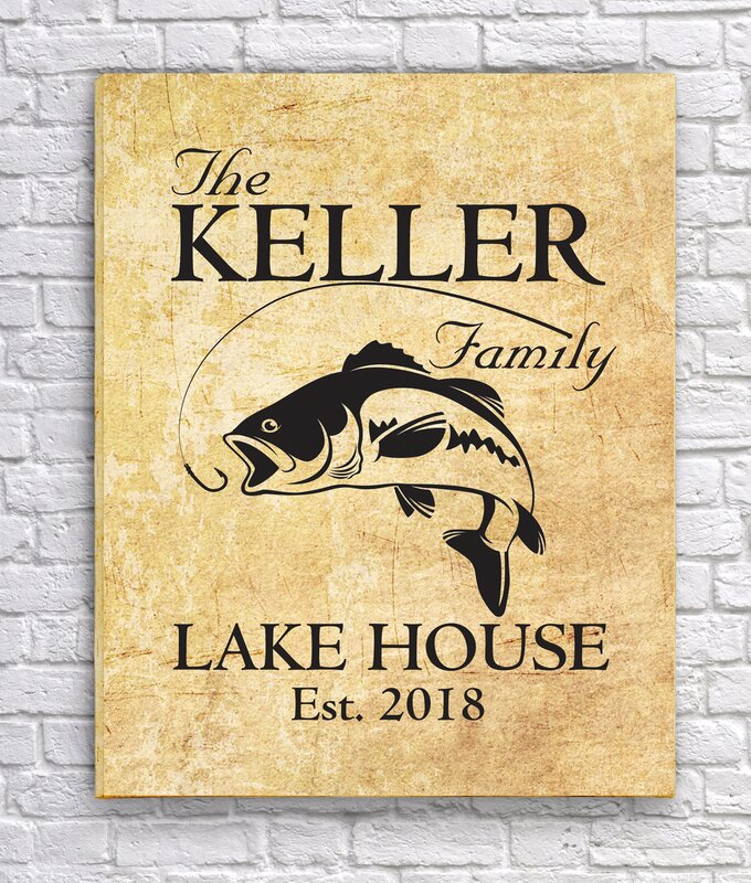 JDS Personalized Gifts Personalized Canvas for a Family Lake Home ...