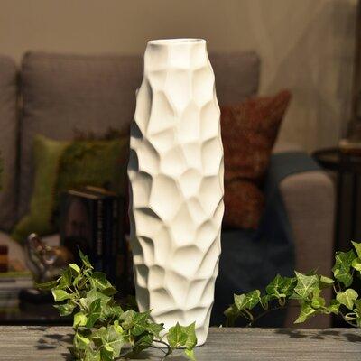 Brayden Studio Embossed Irregular Wave Design Table Vase