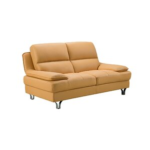 Harrison Leather Loveseat by American Eagle ..