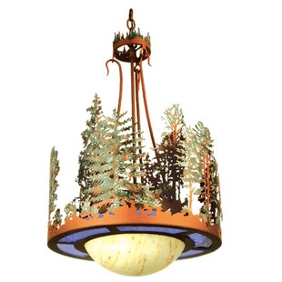 Meyda Tiffany Forest 1-Light Inverted Pendant