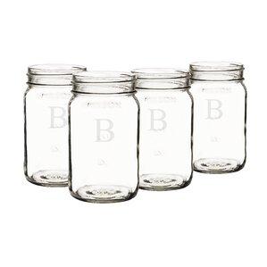 mason jar set of 4 - Mason Jar Drinking Glasses