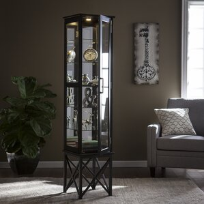 Clarkshire Lighted Curio Cabinet by Alcott Hill