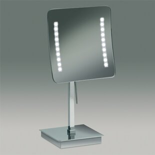 Best Reviews Square Pedestal Magnifying Mirror By Windisch by Nameeks