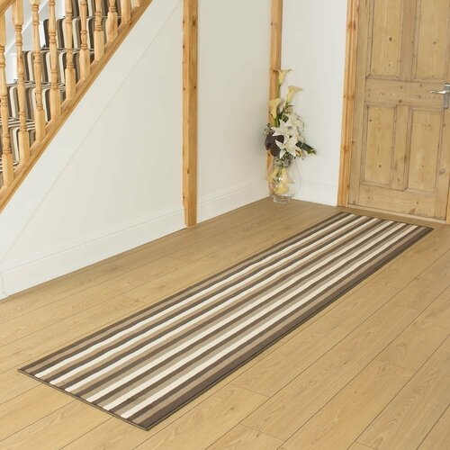 Barium Tufted Brown Hallway Runner Rug ClassicLiving
