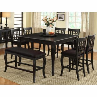 Aya Counter Height Solid Wood Dining Table Alcott Hill