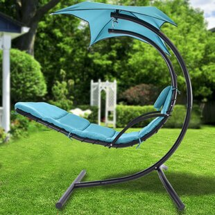 Eric Fantasy Sweet Hanging Chaise Lounger with Stand by Freeport Park