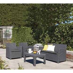 Venetta 4 Piece Sofa Set with Cushions