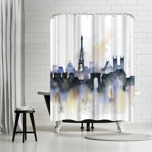 Rachel McNaughton Paris Single Shower Curtain