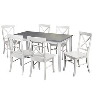 Beachcrest Home Lehigh Acres 7 Piece Dining Set