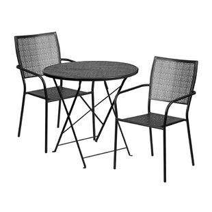 Speirs Outdoor Steel 3 Piece Dining Set b..