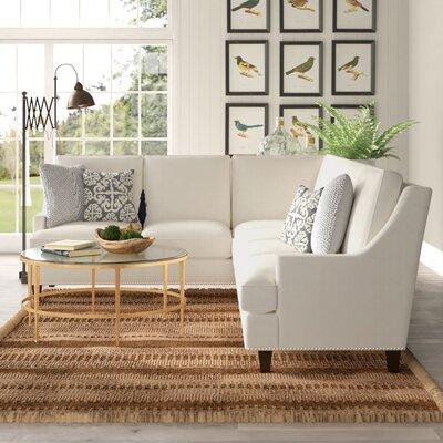 Admirable Birch Lane Heritage Larson Sectional Upholstery Oakley Ivory Inzonedesignstudio Interior Chair Design Inzonedesignstudiocom