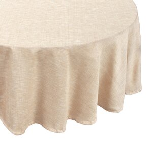 Cafe Deauville Chambray Vinyl Round Flannel Back Tablecloth