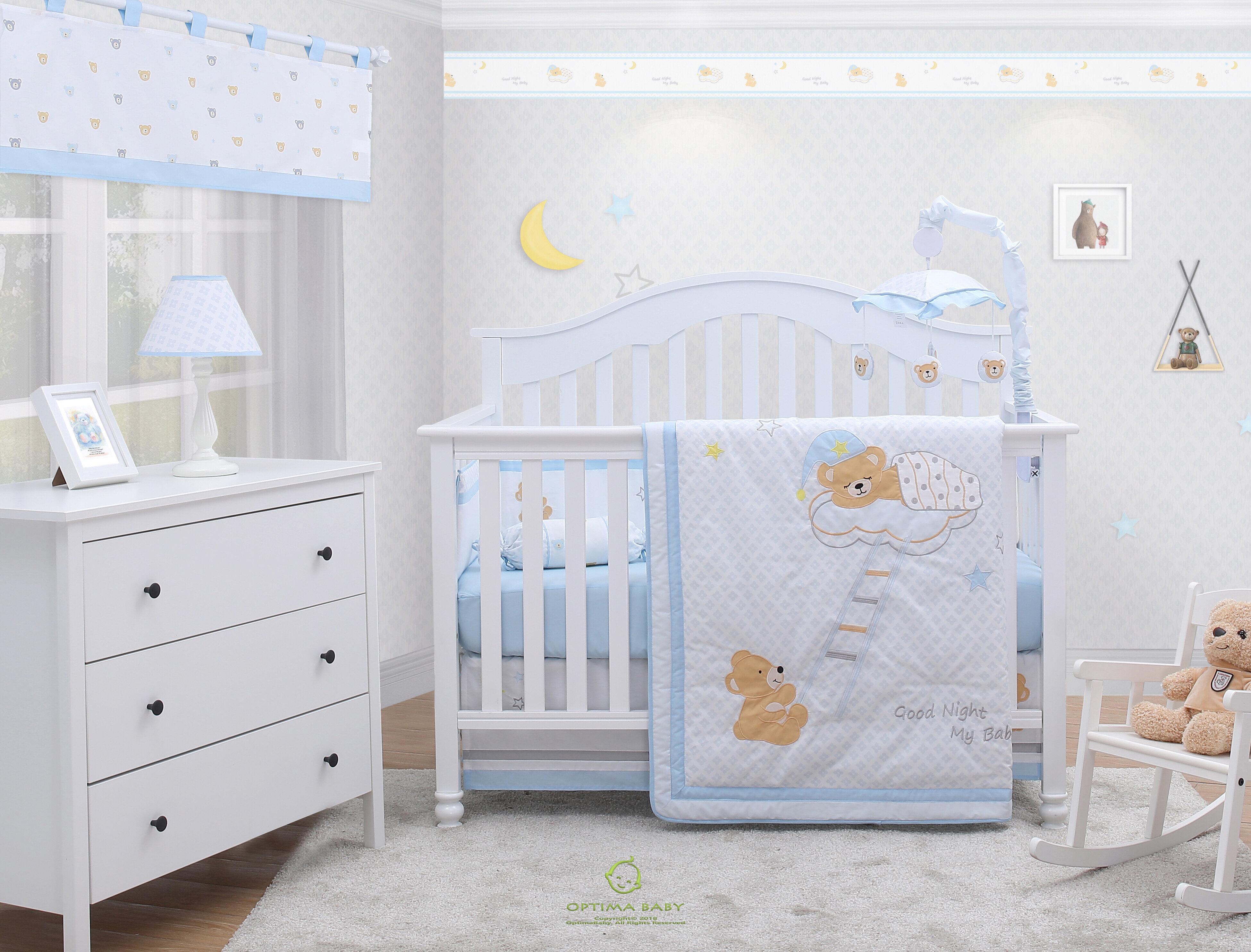 Zoomie Kids Rasmussen Moon and Star Teddy Bear Baby Nursery 5