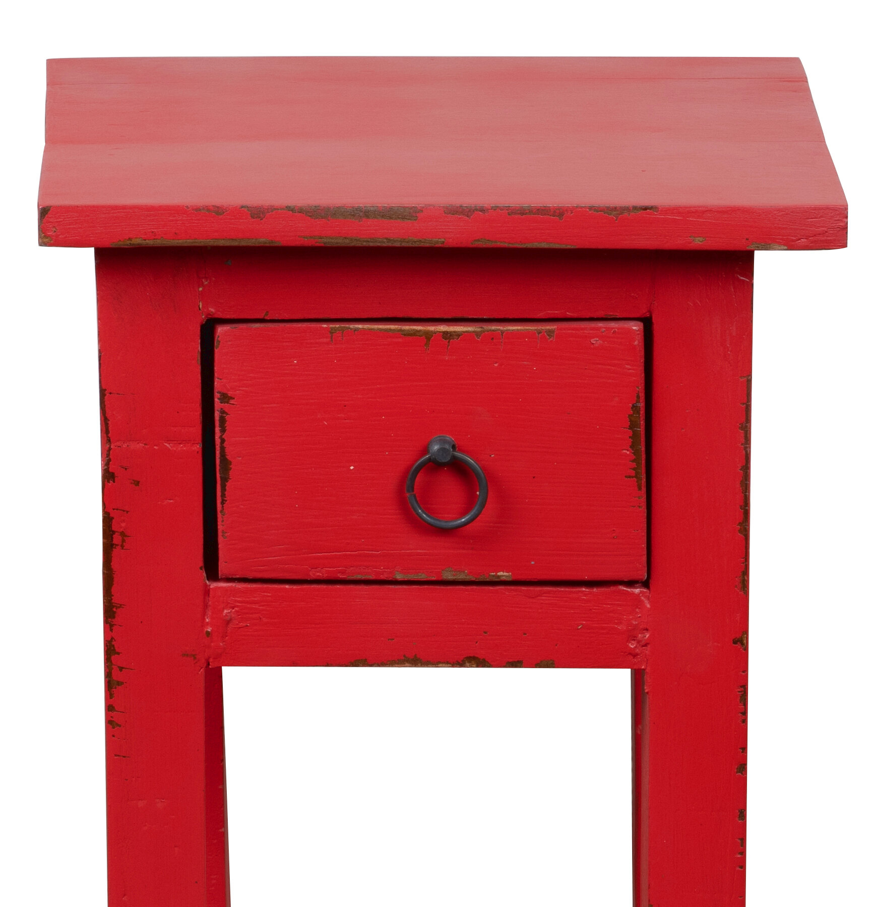 Distressed Finish Red End Side Tables You Ll Love In 2021 Wayfair