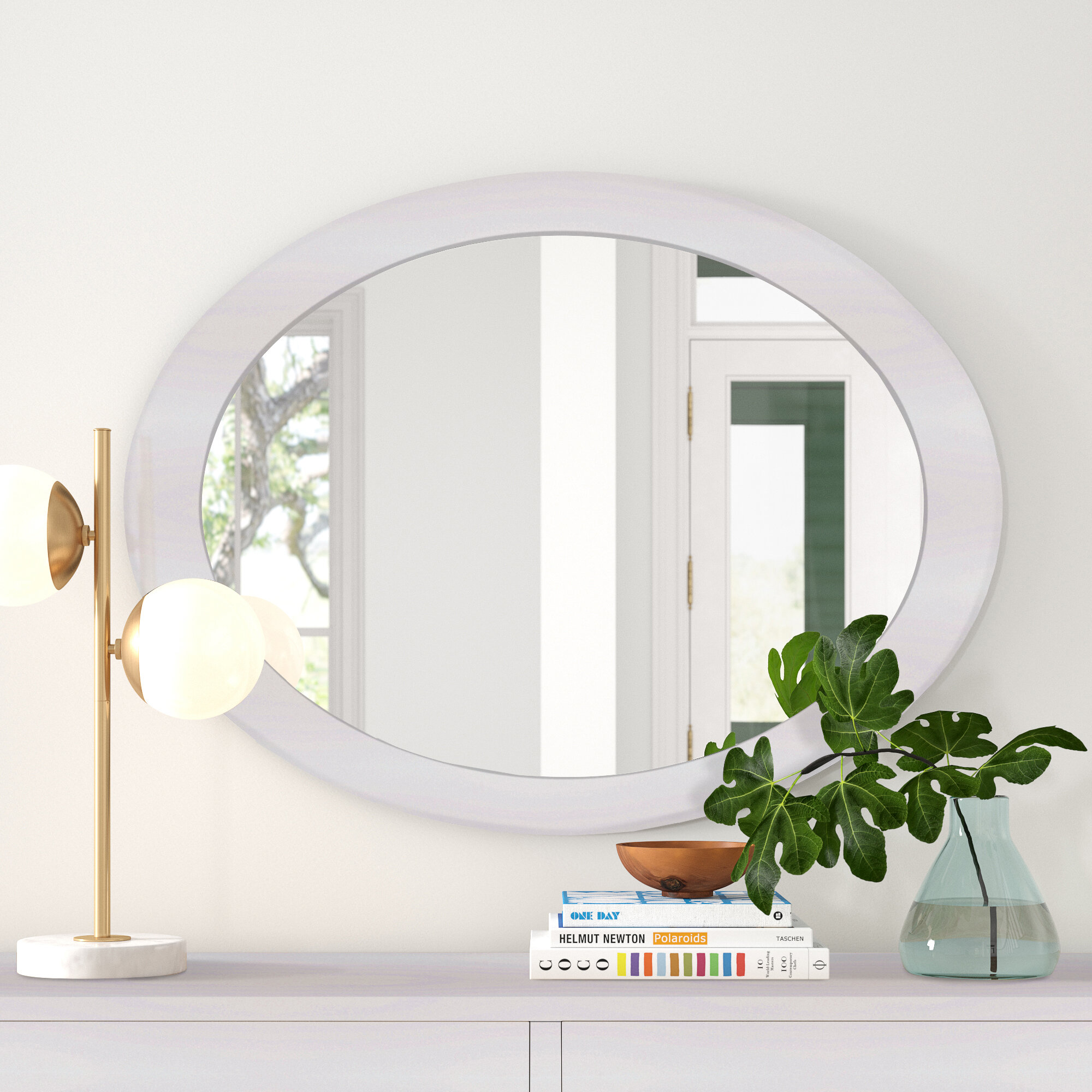 Foundstone Staton Mid Century Modern Contemporary Accent Mirror Reviews Wayfair