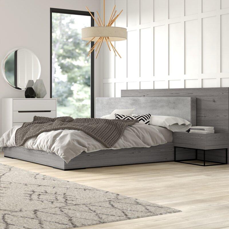 Mraz Upholstered Platform 3 Piece Bedroom Set