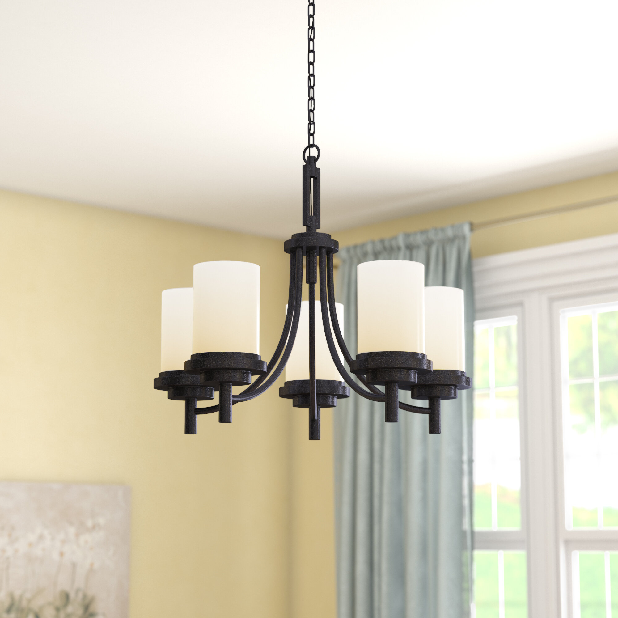Charlton Home Tilford 5 Light Shaded Classic Traditional Chandelier Reviews Wayfair