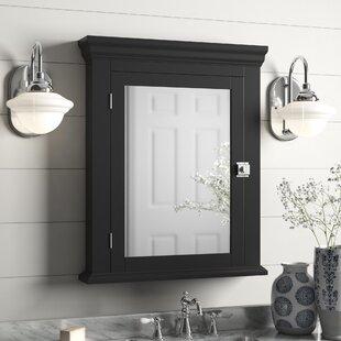 Edith Surface Mount 1 Door Medicine Cabinet with 2 Adjustable Shelves
