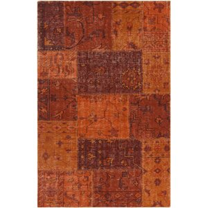 Casselman Patterned Contemporary Orange Area Rug