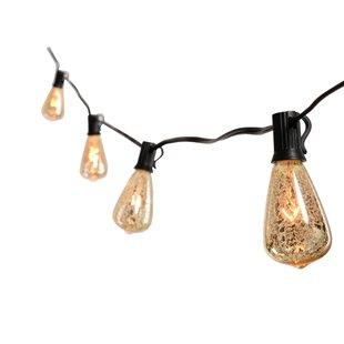 Williston Forge Perley Mercury Glass Bulb 10-Light Globe String Light