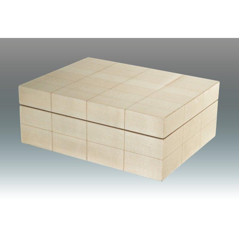 Tizo Grid Empty Wood Decorative Box Wayfair