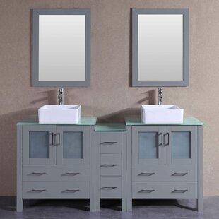 Pembroke 71 Double Bathroom Vanity Set with Mirror by Bosconi