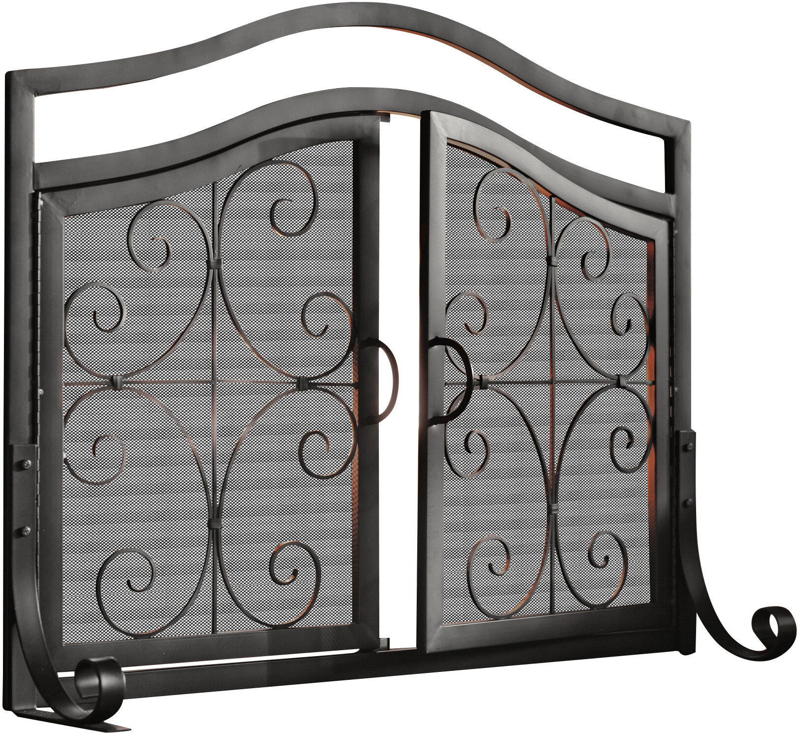 Plow Hearth Single Panel Iron Fireplace Screen Reviews Wayfair