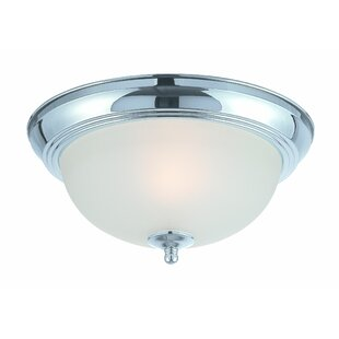 Charlton Home Bergeson 1-Light Flush Mount
